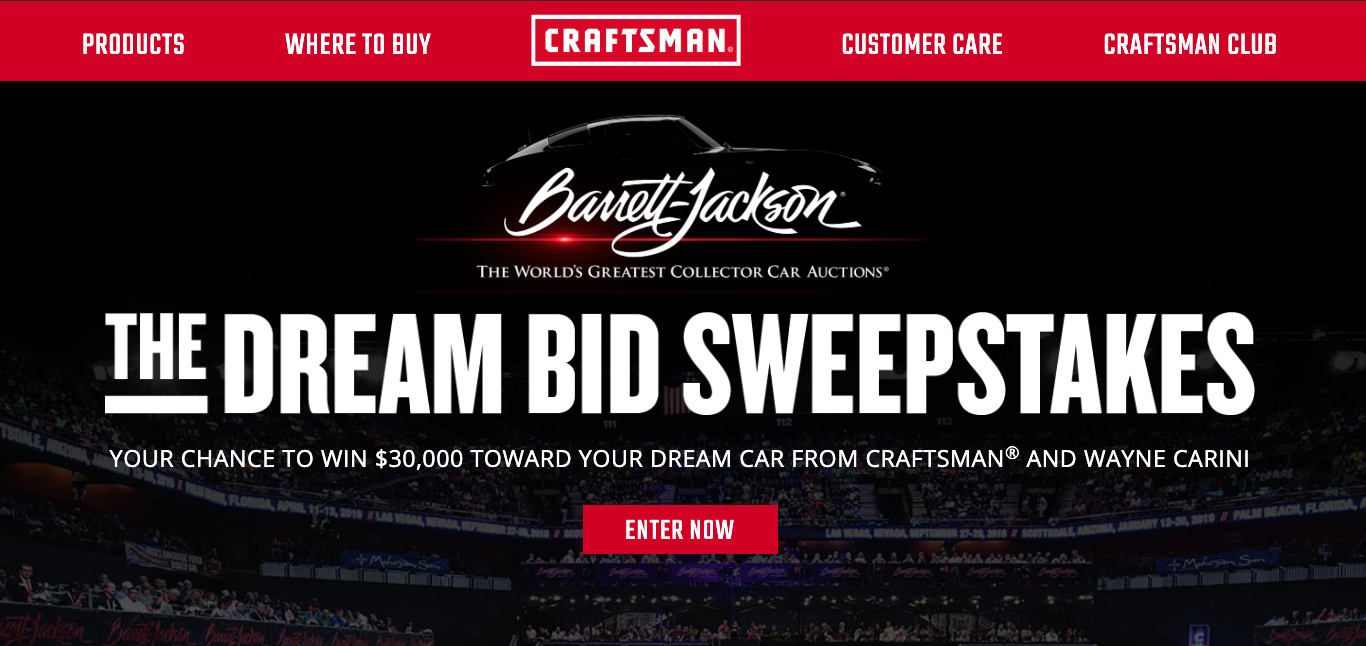 CRAFTSMAN The Dream Bid Sweepstakes – Enter for your chance to win!